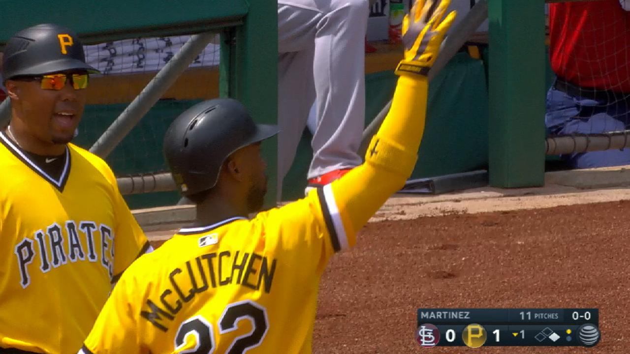 Cutch's RBI single off bag