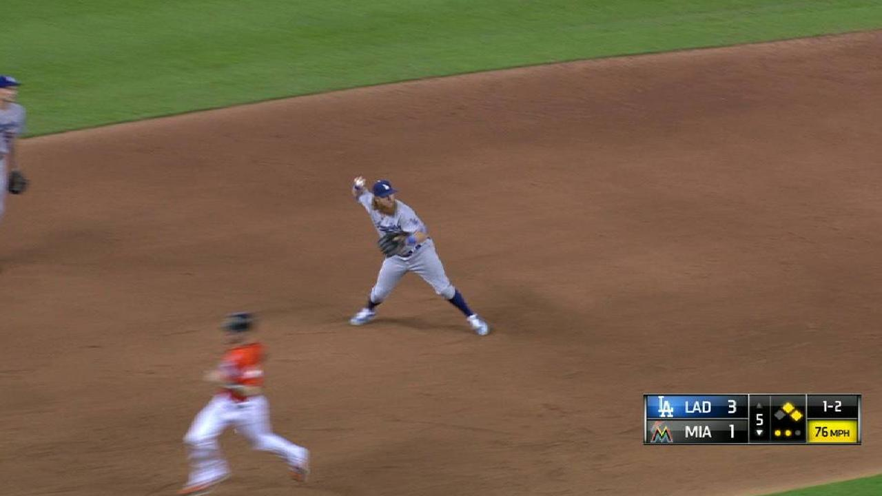 Hill gets Stanton to ground out