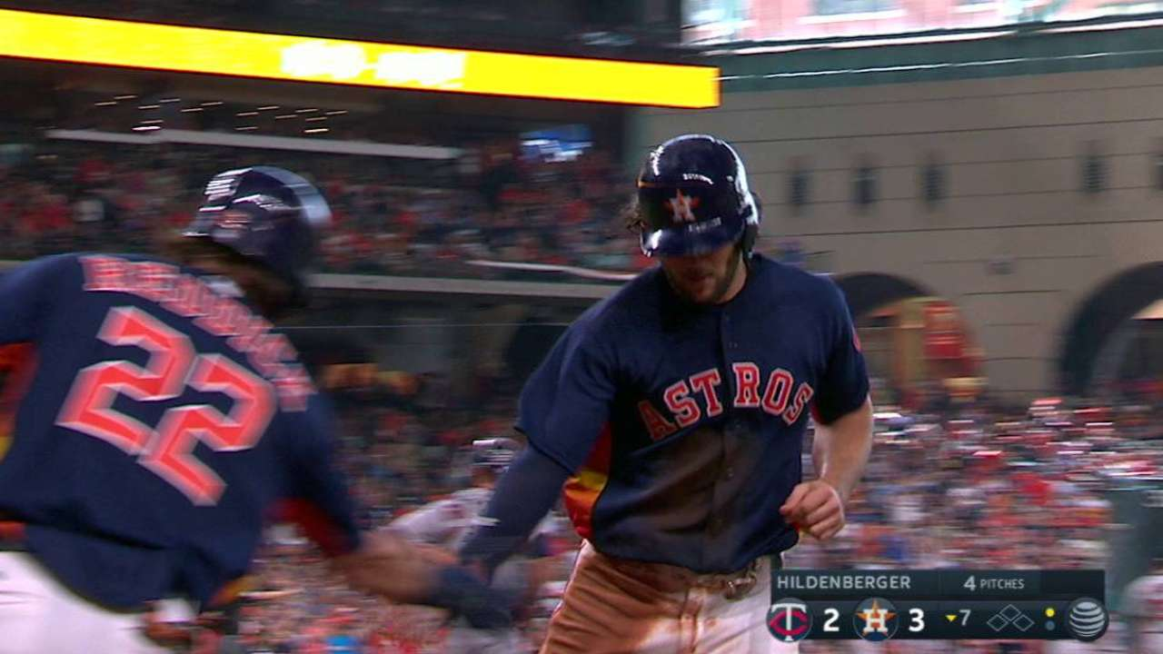 Marisnick trots home on an error