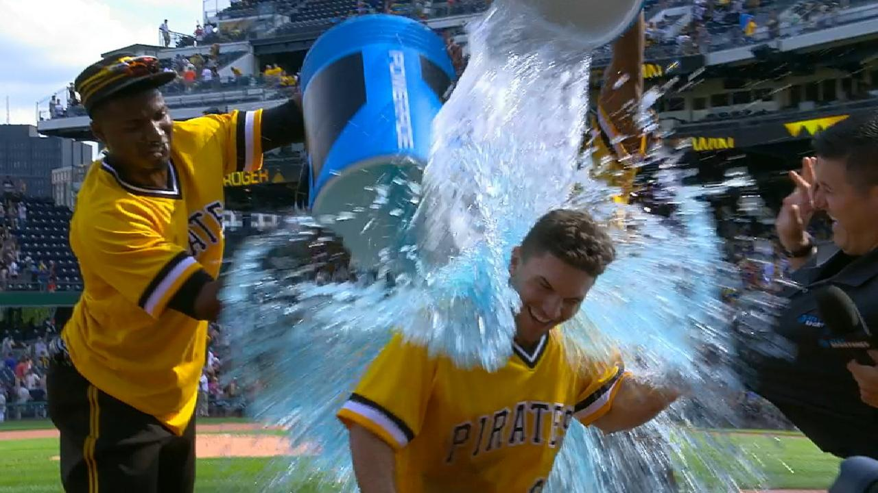 Frazier on his walk-off hit