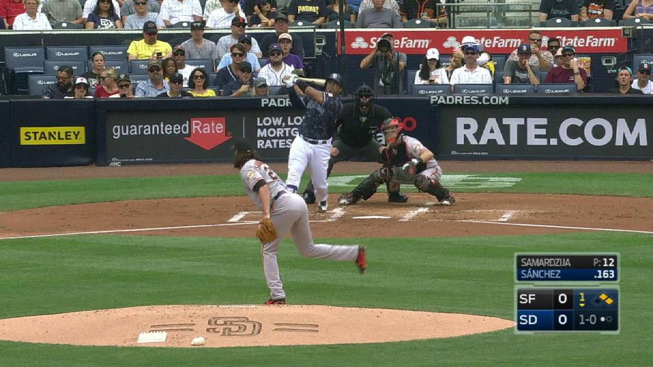 Shark attacked: Homers, Cahill carry Padres