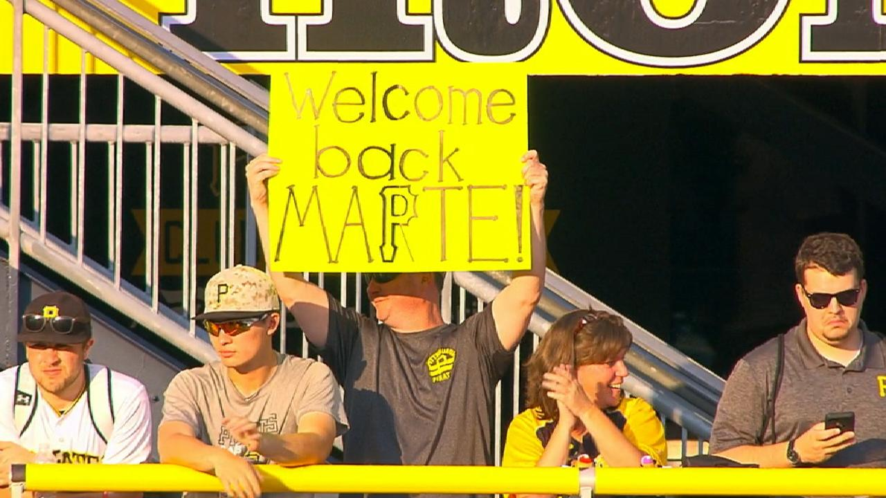 Starling Marte feliz por el recibimiento de los fanáticos en Pittsburgh