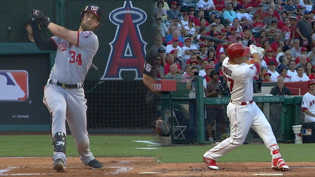 Harper, Trout Trade Homers