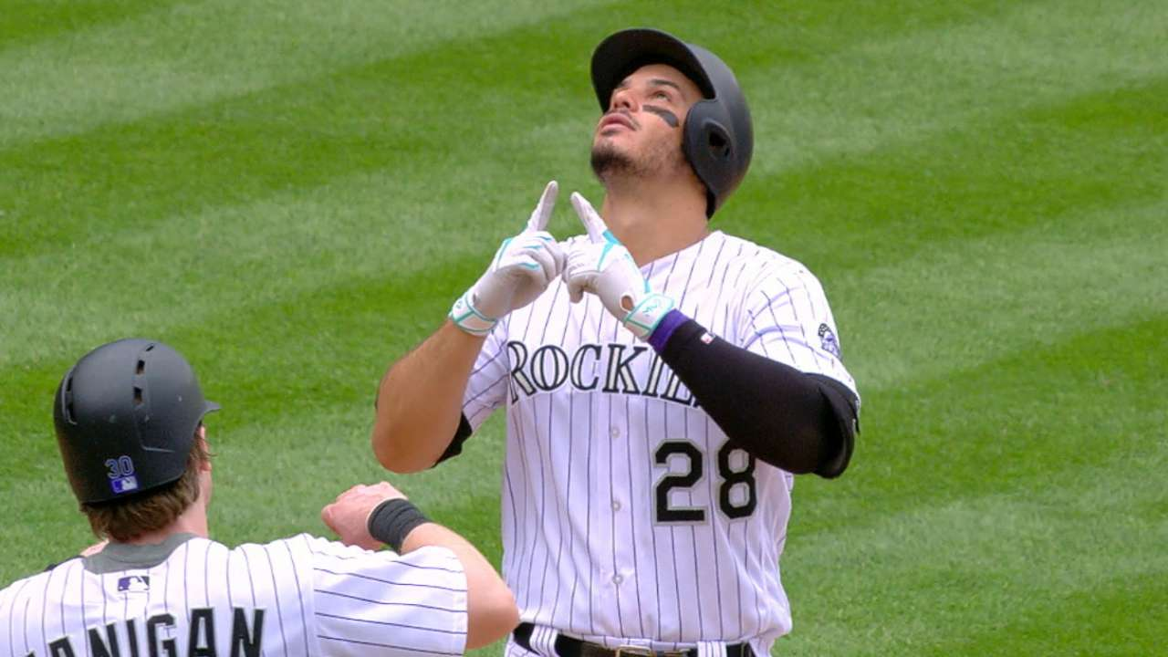 Arenado's five hits, three HRs