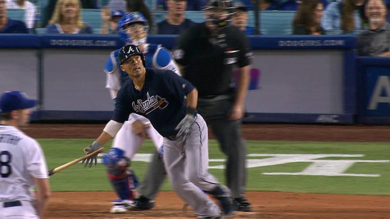Suzuki luce y Bravos cortan racha de 11 triunfos de Dodgers