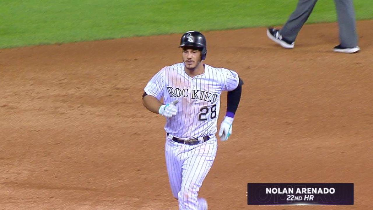 Arenado homers, but Rox's streak snapped