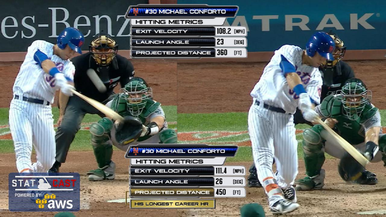 Statcast: Conforto's two homers