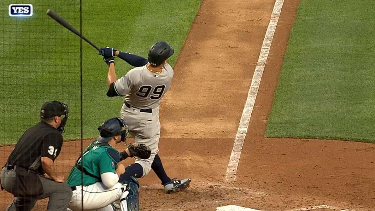 Judge estalla con el bate y Yankees le repiten la dosis a Marineros