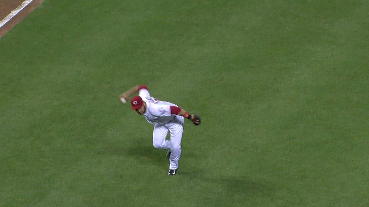 Eugenio Suárez ha lucido con su defensa en la tercera base
