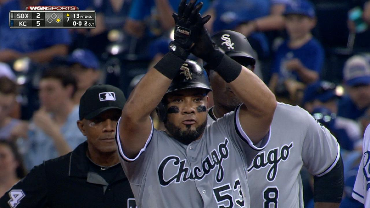 Melky flirts with cycle as Sox fall to Royals