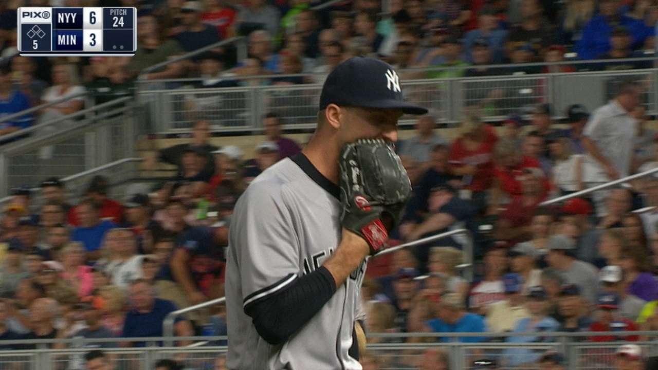 Yankees' bullpen shuts the door