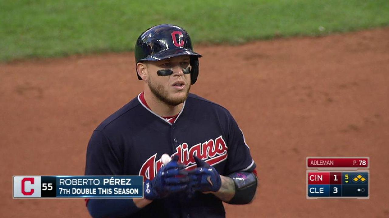 Perez's RBI double
