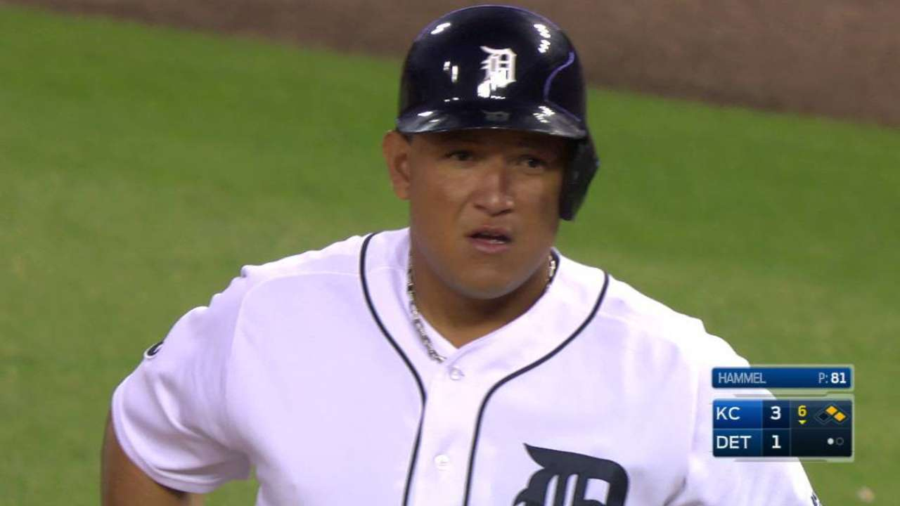 Miggy's RBI single to left