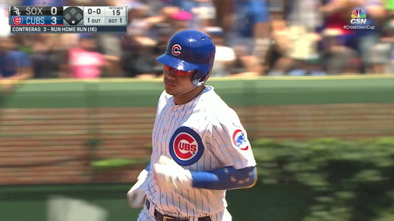 Contreras sparks W as Chicago rivalry heats up