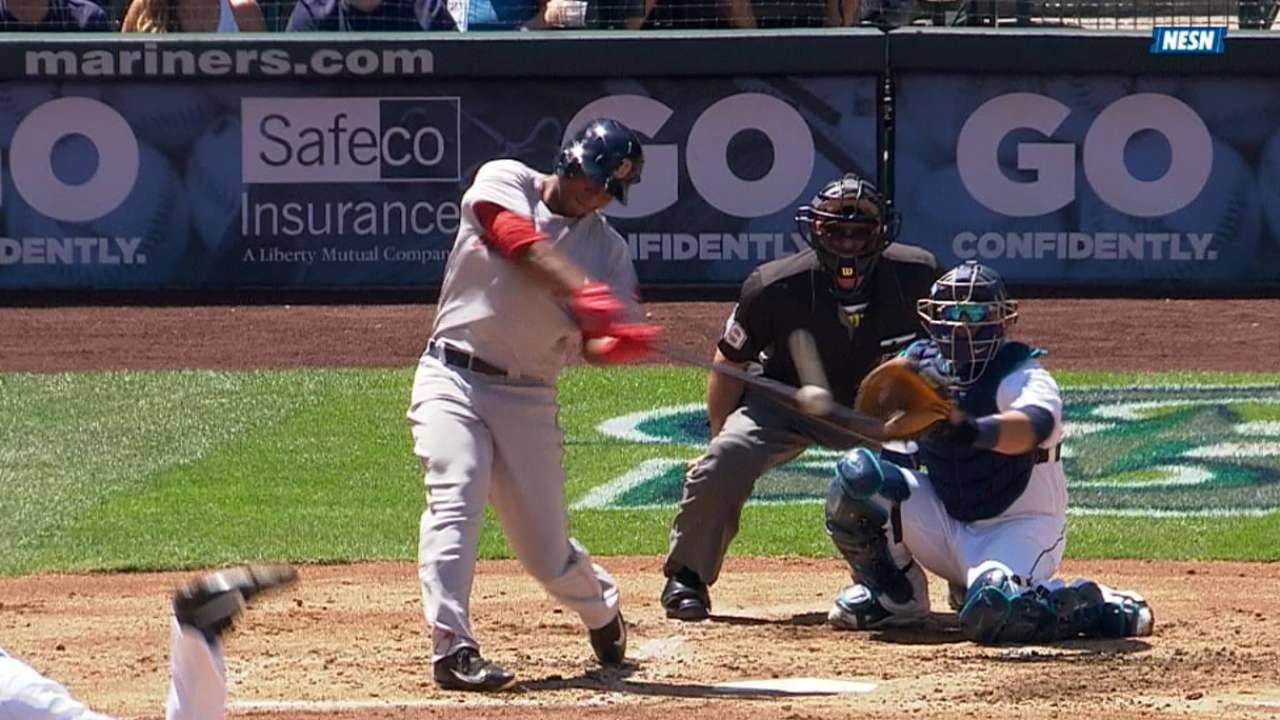 Must C: Devers' first MLB homer