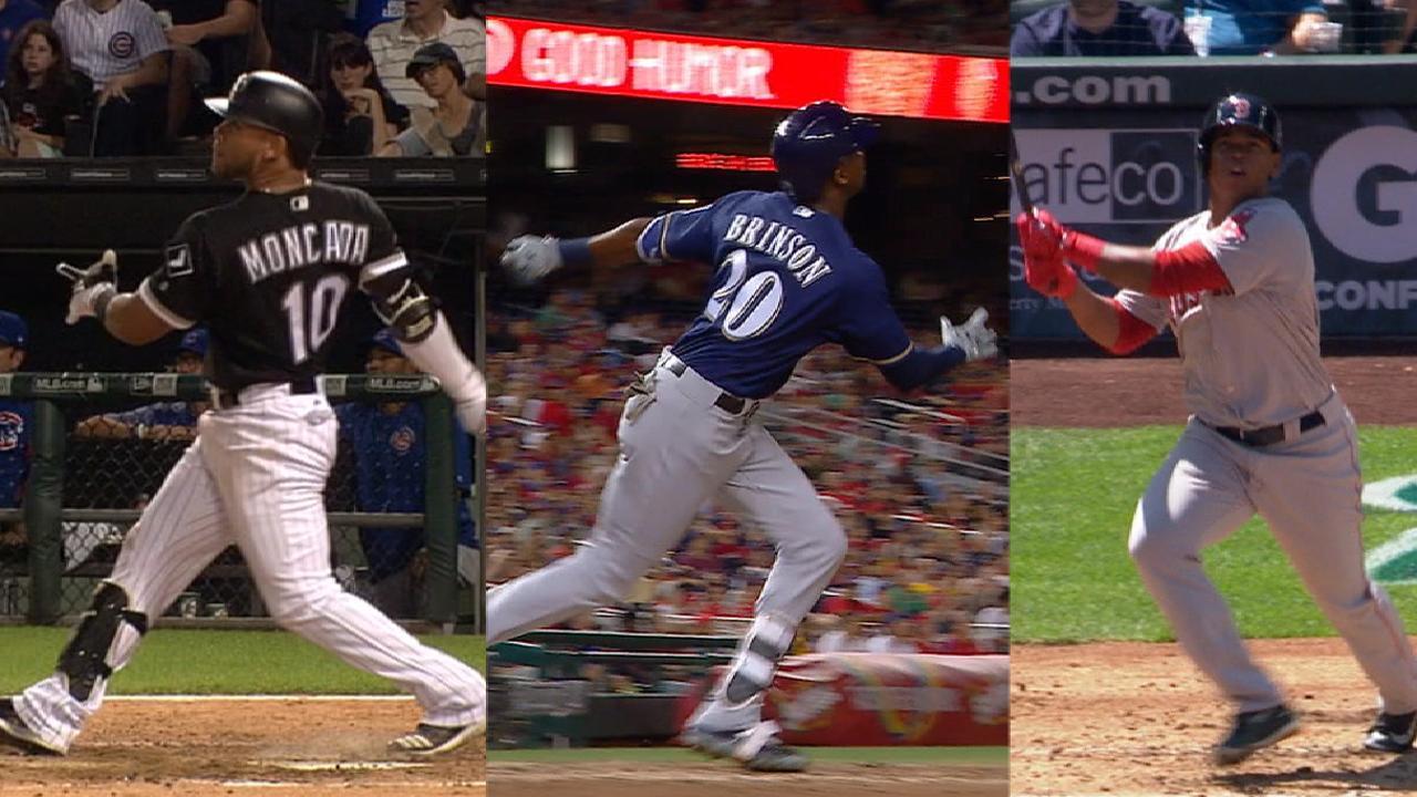 Moncada, Devers, Brinson hit 1st career HRs