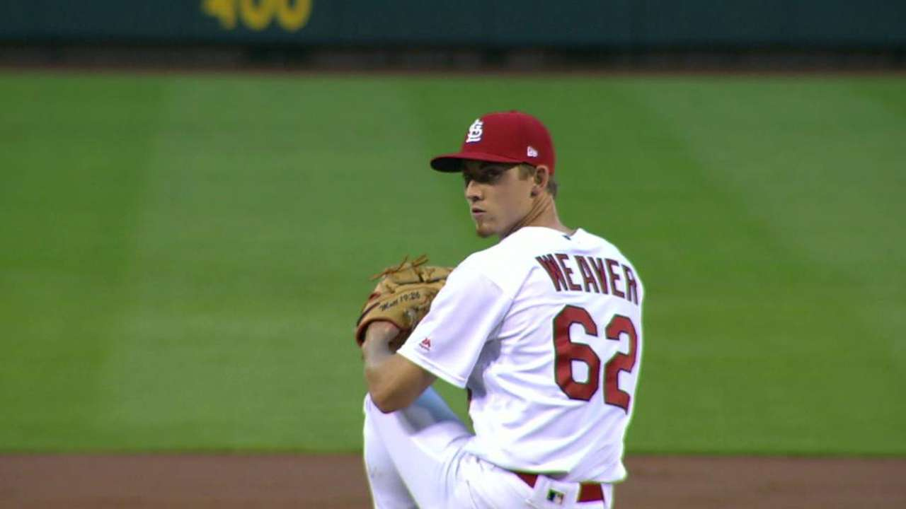Waino getting more rest; Weaver to step in