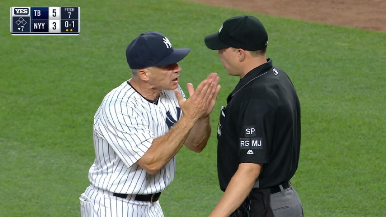 Girardi gets tossed in the 7th