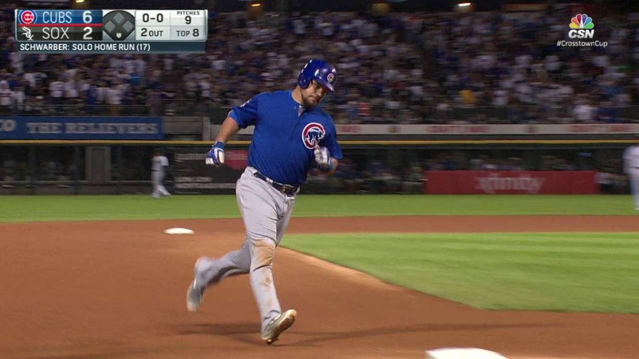 Schwarber pega dos jonrones en triunfo de Cubs sobre White Sox