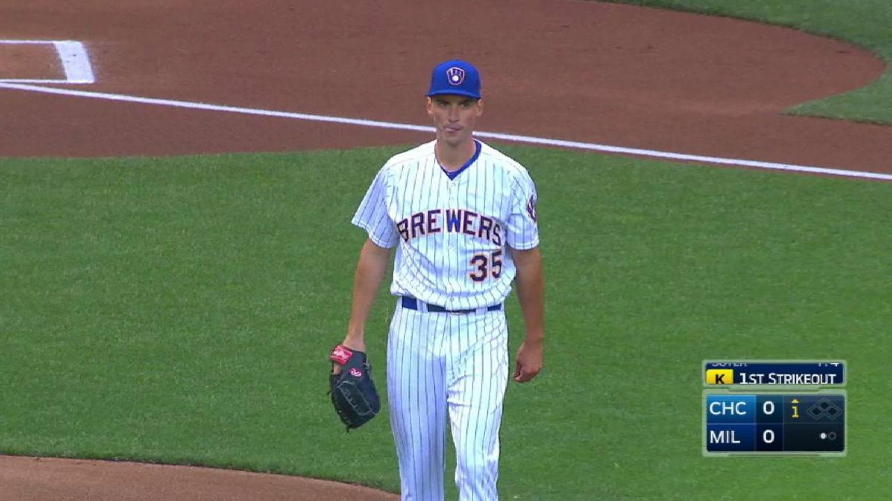 brewers u0027 brent suter paces win over cubs mlb com