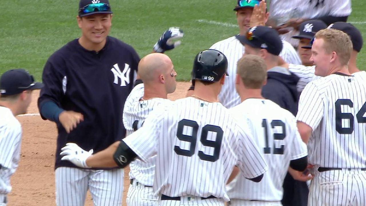 Yankees hilan sexto triunfo con hit de oro de Brett Gardner