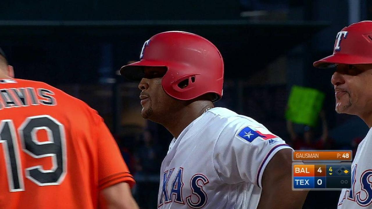 Beltré llegó a los 2,999 hits, Rangers fueron blanqueados por Orioles