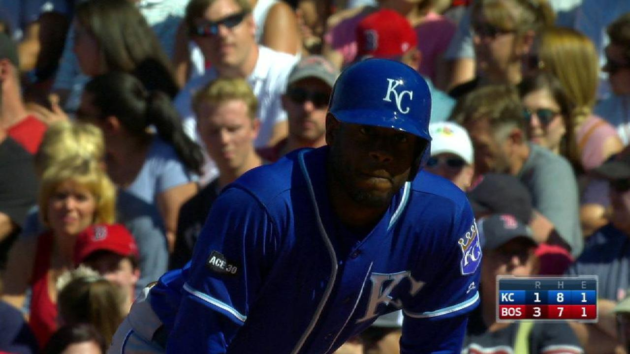 Cain gets to first on an error