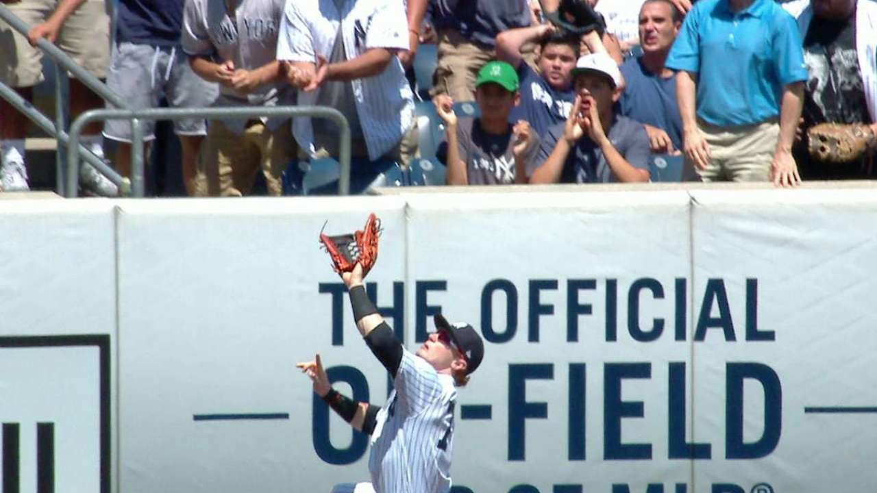 Clint Frazier's leaping grab