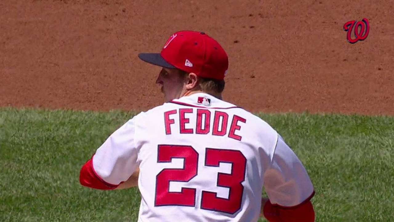 Fedde's first MLB strikeout