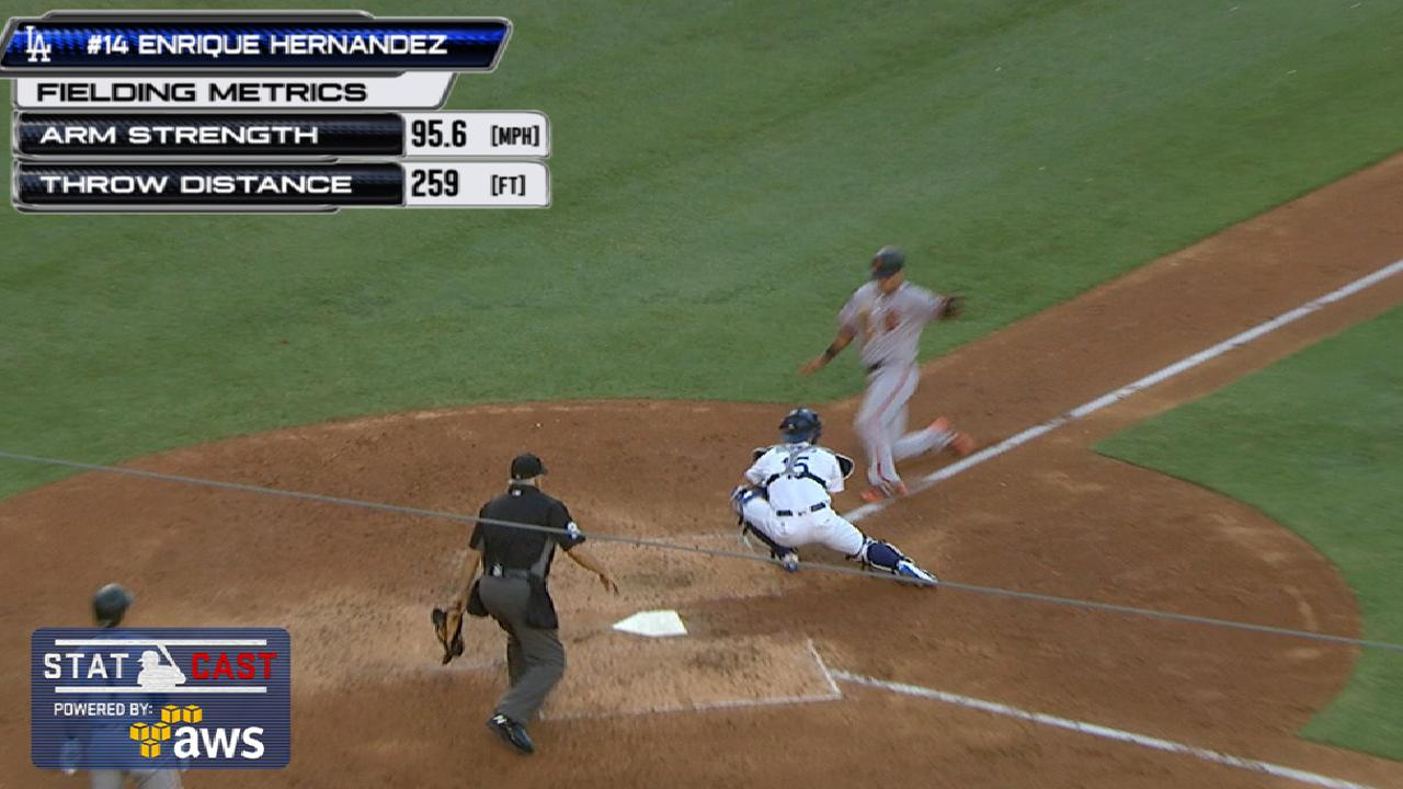 Statcast: Hernandez's throw
