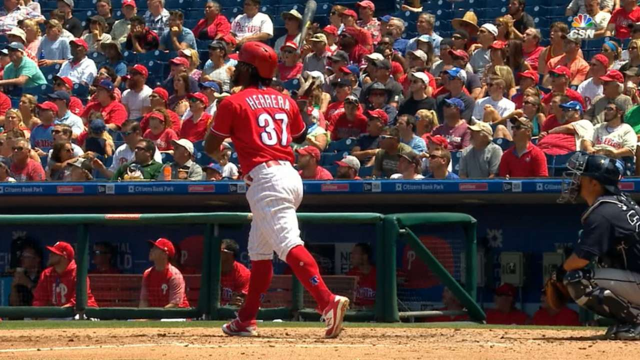 Offense, Pivetta star as Phils hold on for sweep