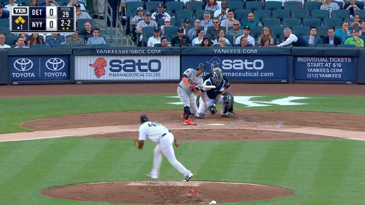 Severino pitches out of trouble