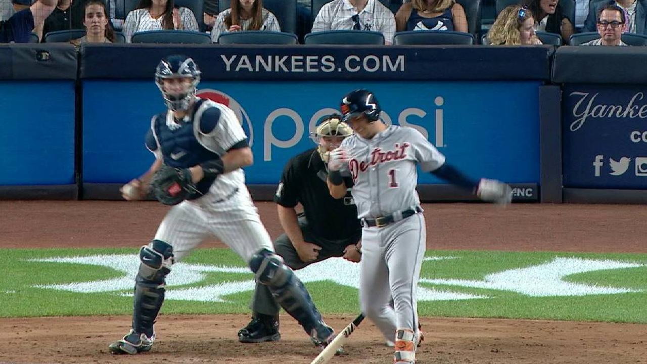 Iglesias strikes out, exits game