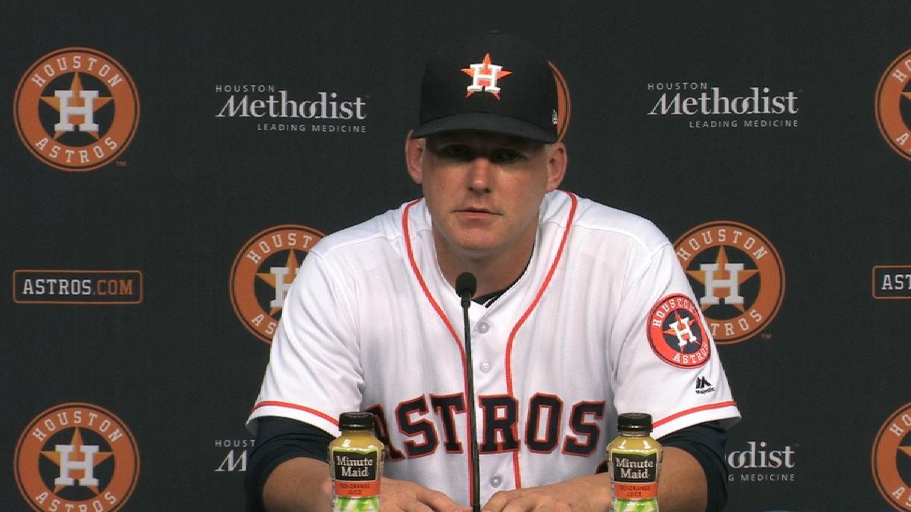 Hinch on win over Rays