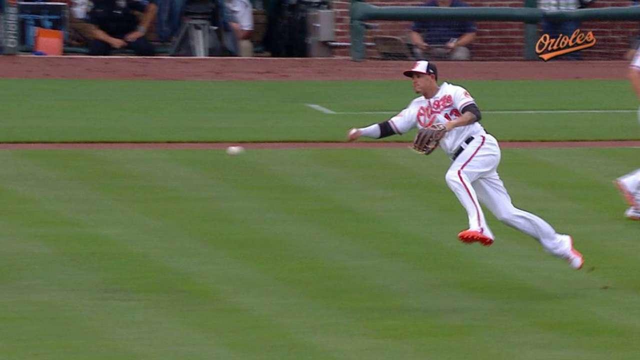 Machado's slick barehanded play
