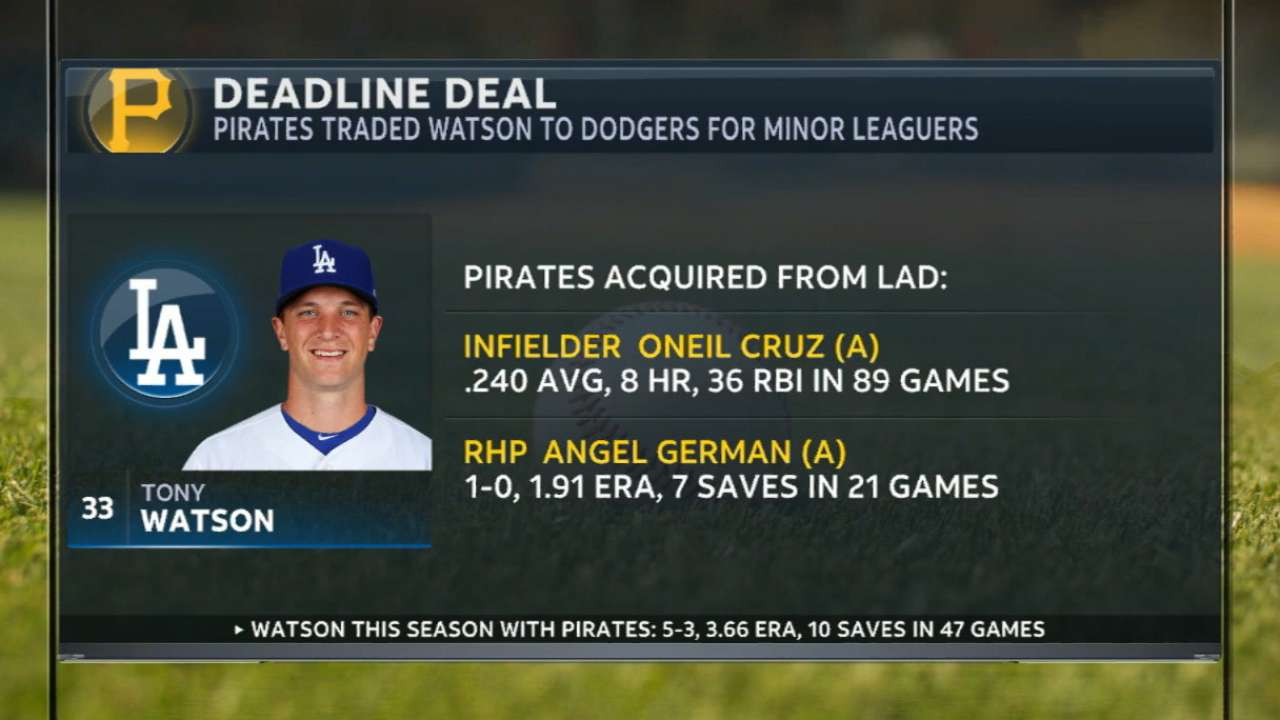 Pirates trade Watson to Dodgers
