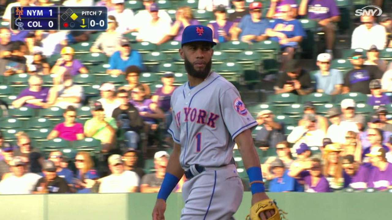 Rosario's first MLB putout