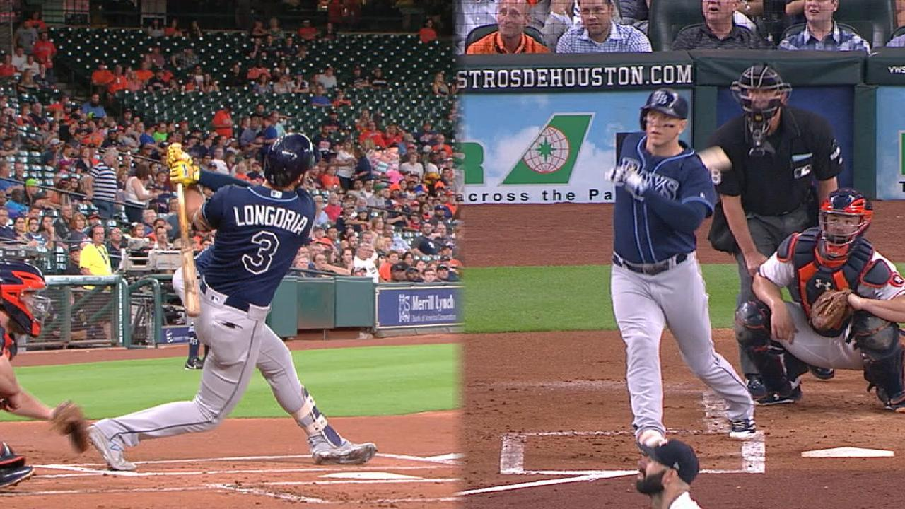 Rays go back-to-back in the 1st