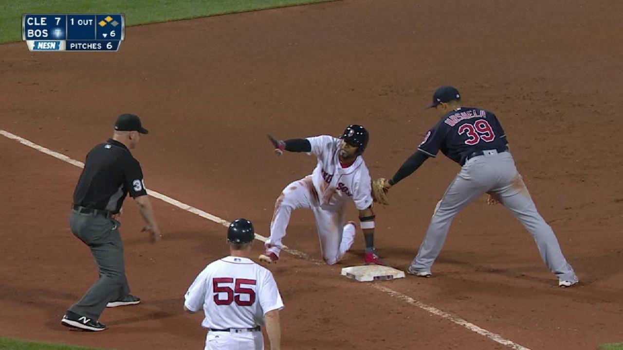 Nunez's three-run double