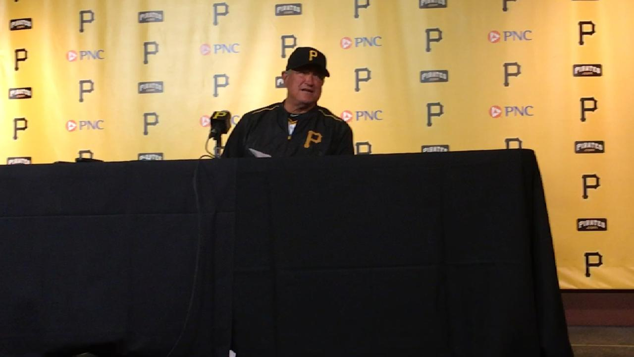 Hurdle on 9-1 loss to Reds