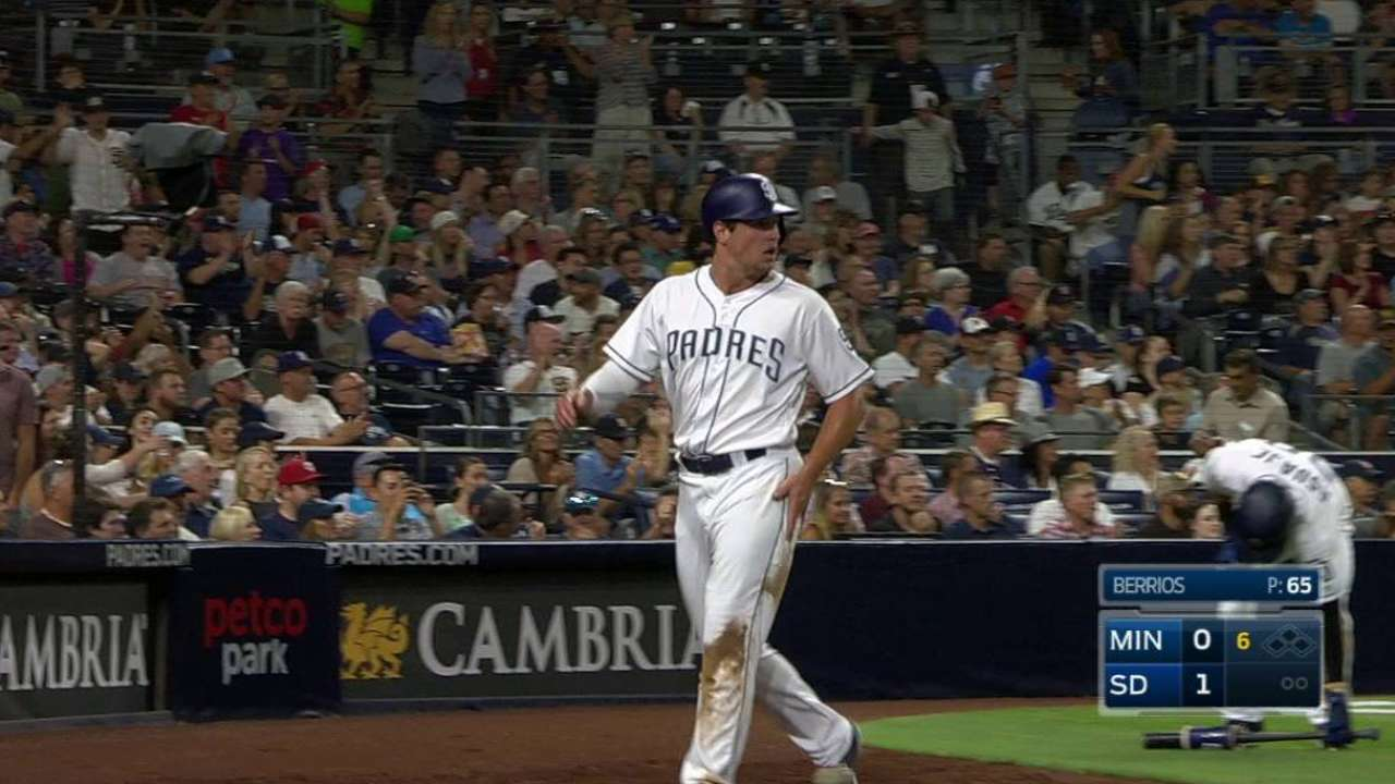 Renfroe scores on double play