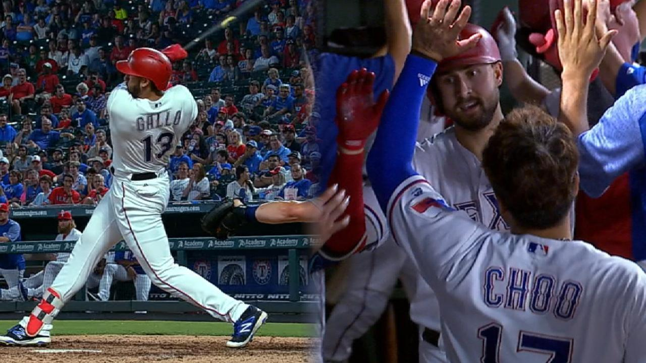 Gallo's two-homer night