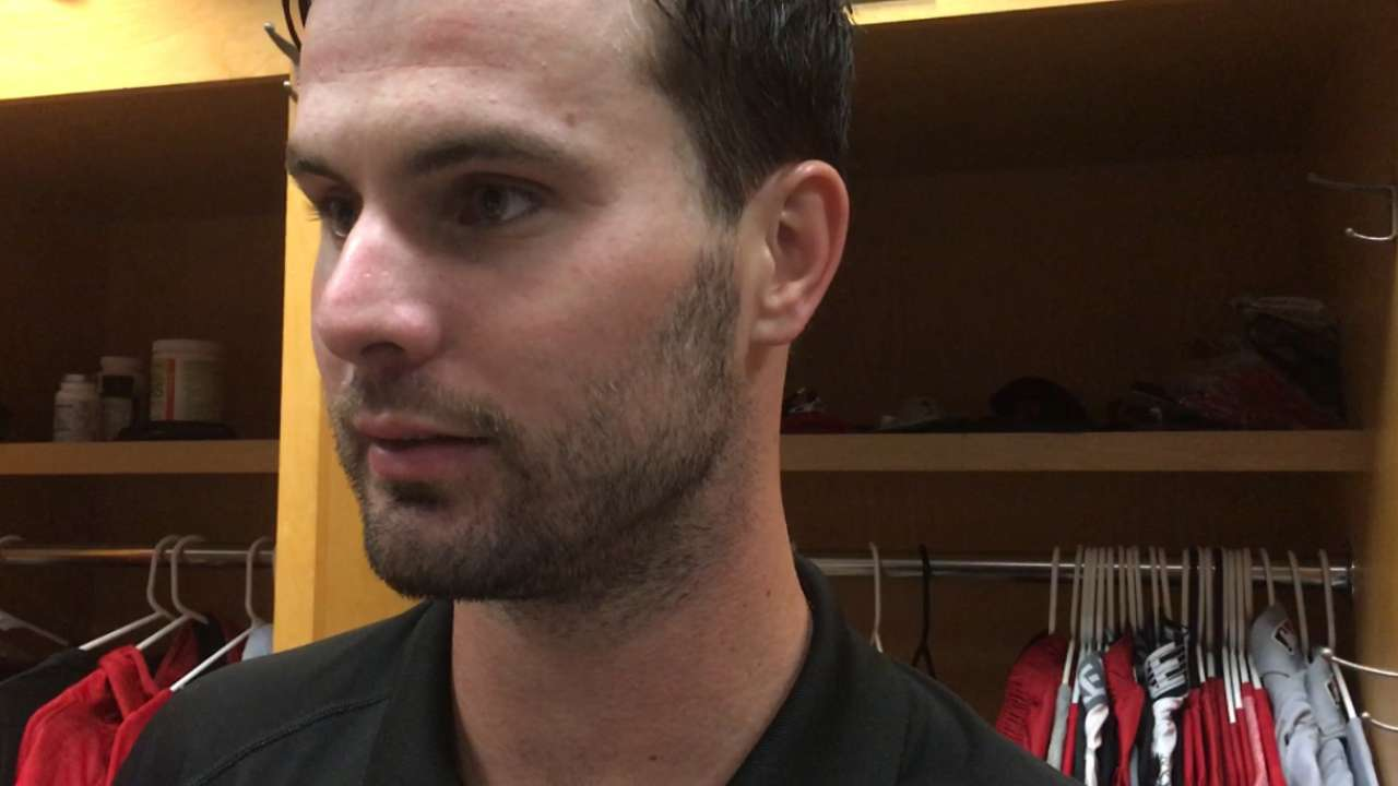 Winker on first career home run