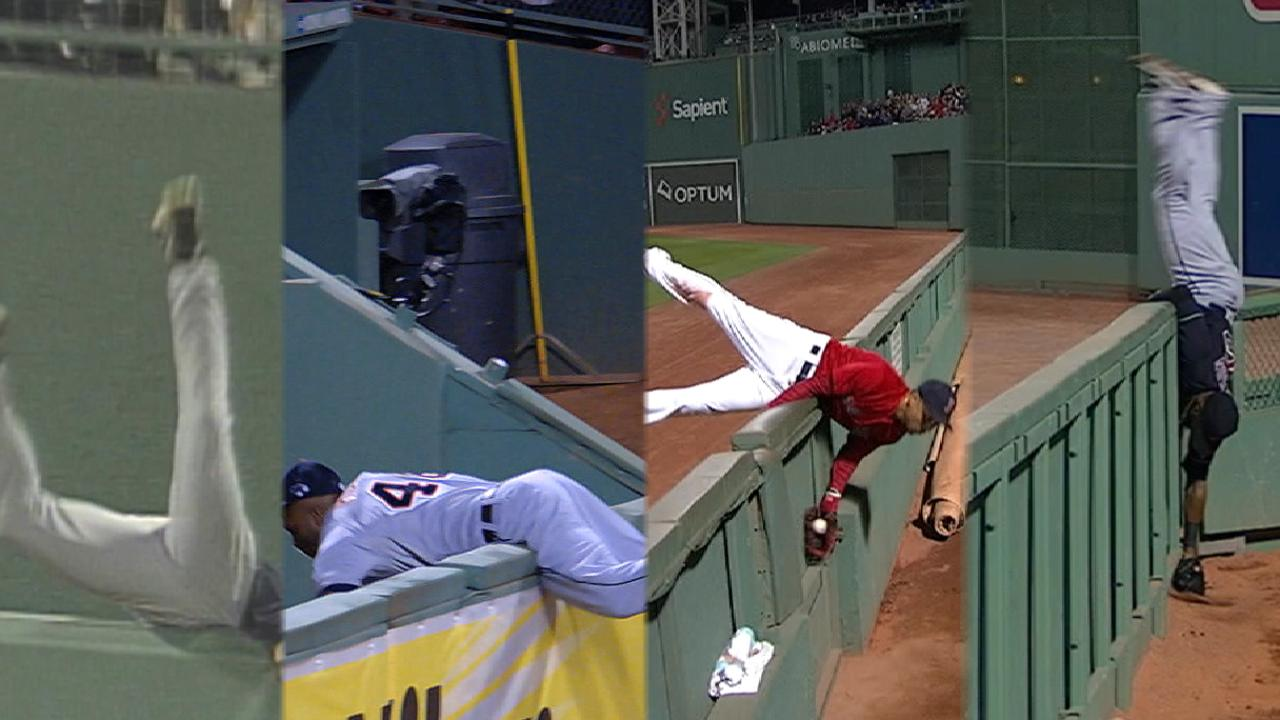 Memorable plays at Fenway wall