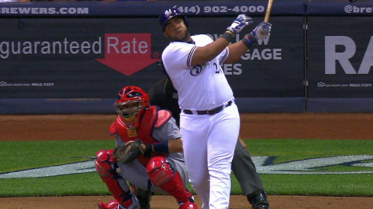 Aguilar's two-run home run