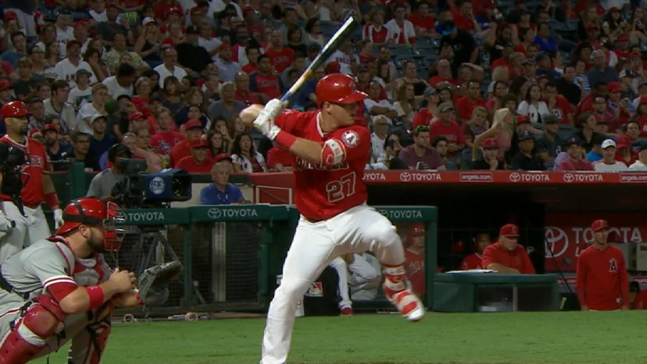 Trout joins elite company with 20th homer