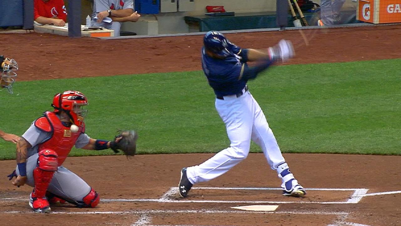 Molina shaken up, stays in game