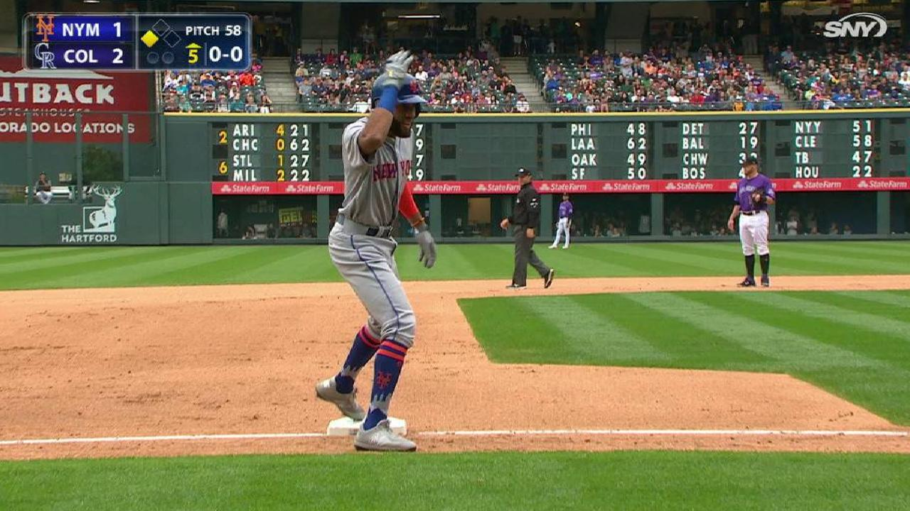 Rosario's stand-up triple