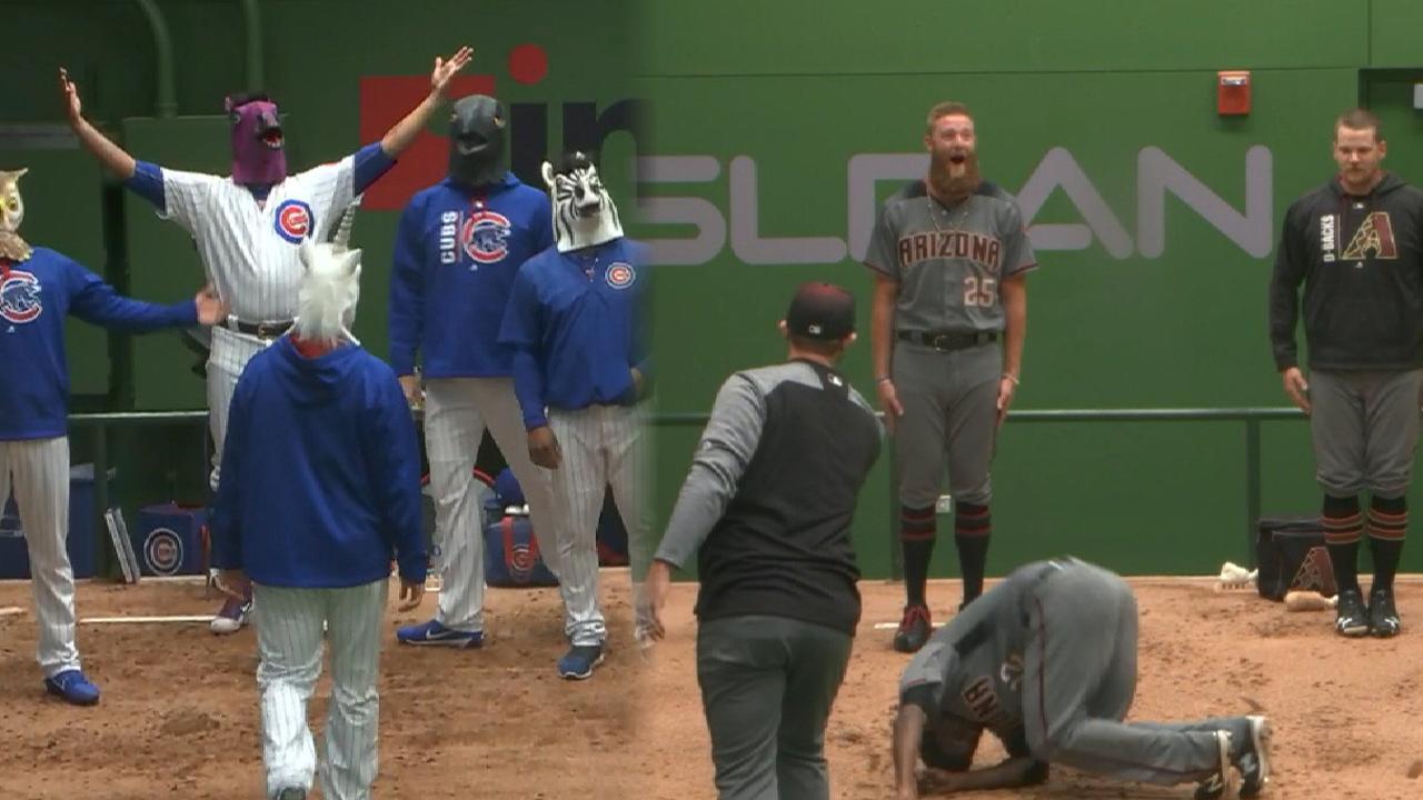 Cubs, D-backs show off moves