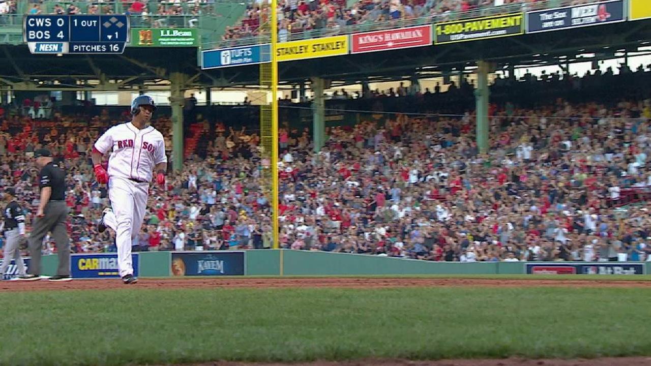Ofensiva de Boston reaccionó ante los White Sox